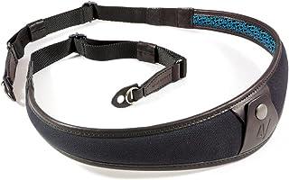 4V Design ALA Handmade Leather & Canvas Camera Strap w/Metal Ring Fit Kit, Black/Black (2ALLRCV0909)