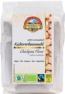 Bio Kichererbsenmehl glutenfrei 1,8 kg Fairtrade gentechnikfrei, Mehl aus rohen Kichererbsen aus Usbekistan 6x300g