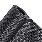 MAGZO Pet Proof Window Screen Replacement, 48'W x 99'L Upgraded Thicken Fiberglass Adjustable Screen for Windows and Door DIY Window Screen Roll Cat Dog Sliding Door Screen Mesh Net Curtain Black