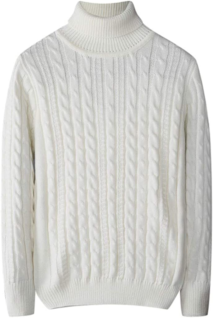 MODOQO Men's Pullover Sweater Long Sleeve Winter Warm Soft Knitted Turtleneck