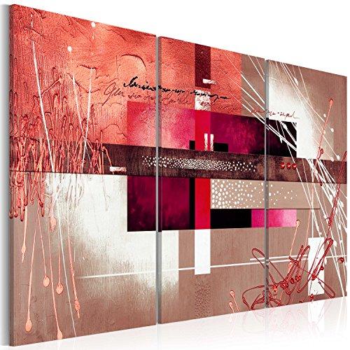 B&D XXL murando Handart Quadro su Tela 135x90 cm 3 Pezzi Quadri Stampa Pannello Pittura Immagini Moderni Murale Arte Moderna Foto Decorazione da Parete Astratto a-A-0110-b-h