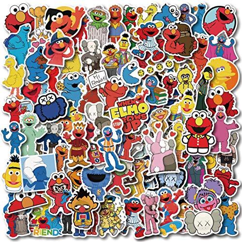 Daisucal 100 Pcs Sesame Street Stickers for Kids Teens Luggage Laptop Bike Skateboard Supplies