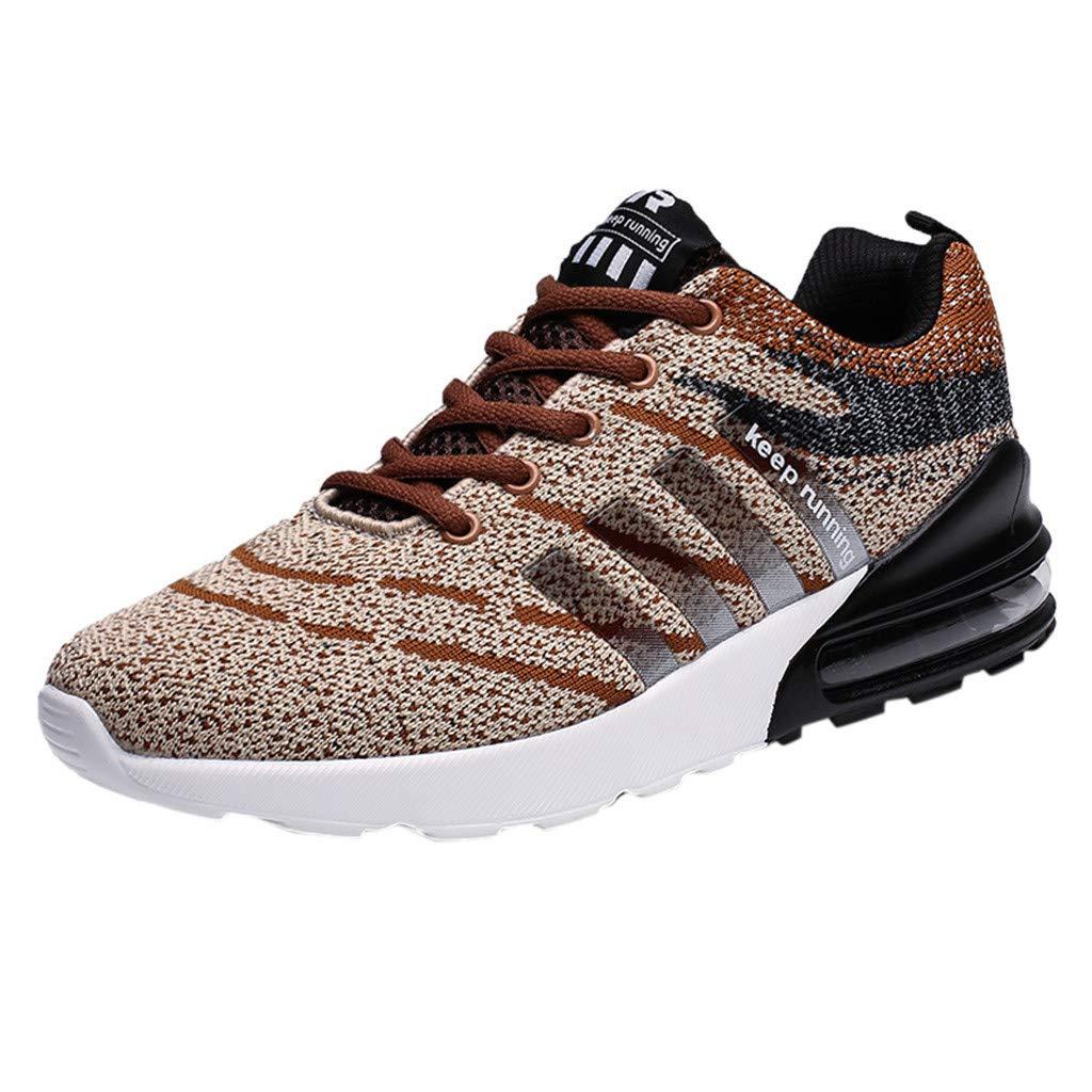 RYTEJFES Zapatillas De Deporte Tejidas Voladoras De Gran Tamaño para Hombres Zapatos Cómodos para Caminar Flying Weave De Talla Grande para Hombre Zapatillas Cómodas De Moda: Amazon.es: Hogar