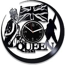 Clock Queen Wall Clock Vintage Freddie Mercury 12 Inch Clock Rock Band Clock Freddie Mercury Xmas For Fan Rock Music Vinyl Record Clock Freddie Mercury Birthday For Her