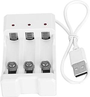 Hoge kwaliteit Hoge temperatuurbestendigheid Hoge betrouwbaarheid Witte USB-oplader Batterijoplader Praktisch voor AA/AAA-...