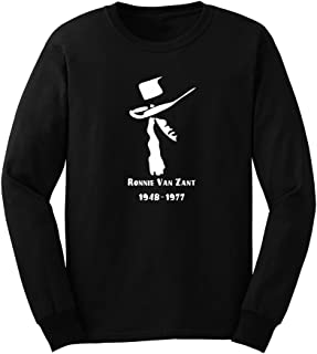 Mens Ronnie Van Zant Fans Long Sleeve T-Shirts Casual Men Tee