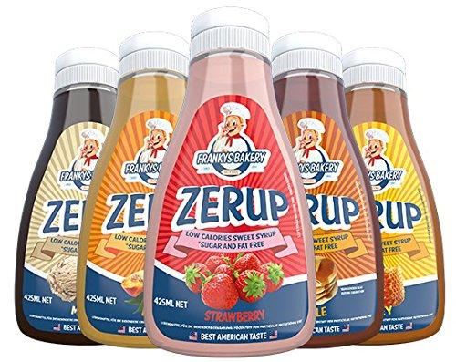 Frankys Bakery ZerUP -Amerikanischer Sirup Dessersauce Diät Ernährung Kalorienarm(Salted Caramel -salziges Karamell) 425ml