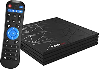 Android TV Box, Android 9.0 TV BOX 4 GB RAM 32 GB ROM H6 Quad core corex-A53 Supporto 3D 6K Ultra HD H.265 WiFi 2.4 GHz Et...