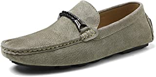 Xujw-shoes, 2018 Men's Casual and Comfortable with Light British Style Driving Loafers are Boat Moccasins(Warm Velvet Optional)