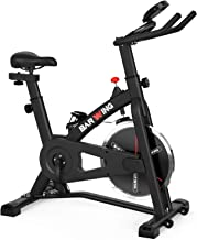 BARWING Indoor Cycling Bike Fully Adjustable for Handlebar and Comfortable Seat Spin Exercise Bike Stationary Bicycle with LCD Monitor for Home Gym