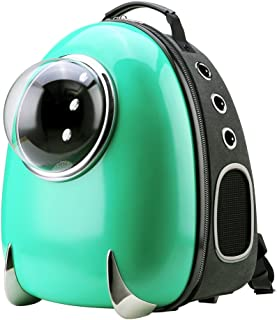 CloverPet Luxury Puppy Cats Dogs Bubble Travel Pet Carrier Backpack,Green