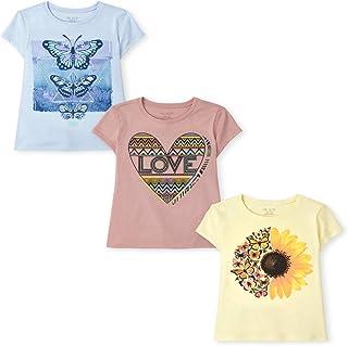 The Children's Place girls Girls Graphic Tee 3-Pack T-Shirt