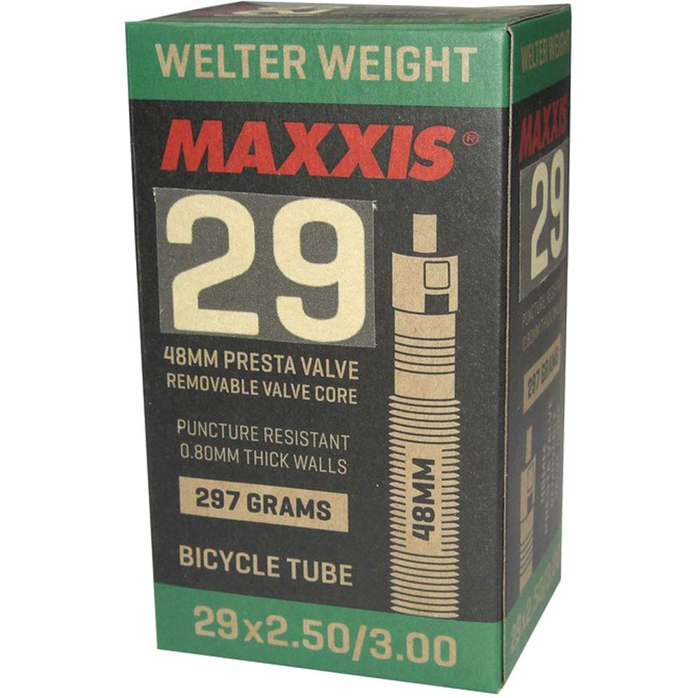 Maxxis WelterWeight Plus - Cámara de Aire para Bicicleta (29 x 2,50-3,00 Presta/FV, 48 mm), Color Negro: Amazon.es: Deportes y aire libre