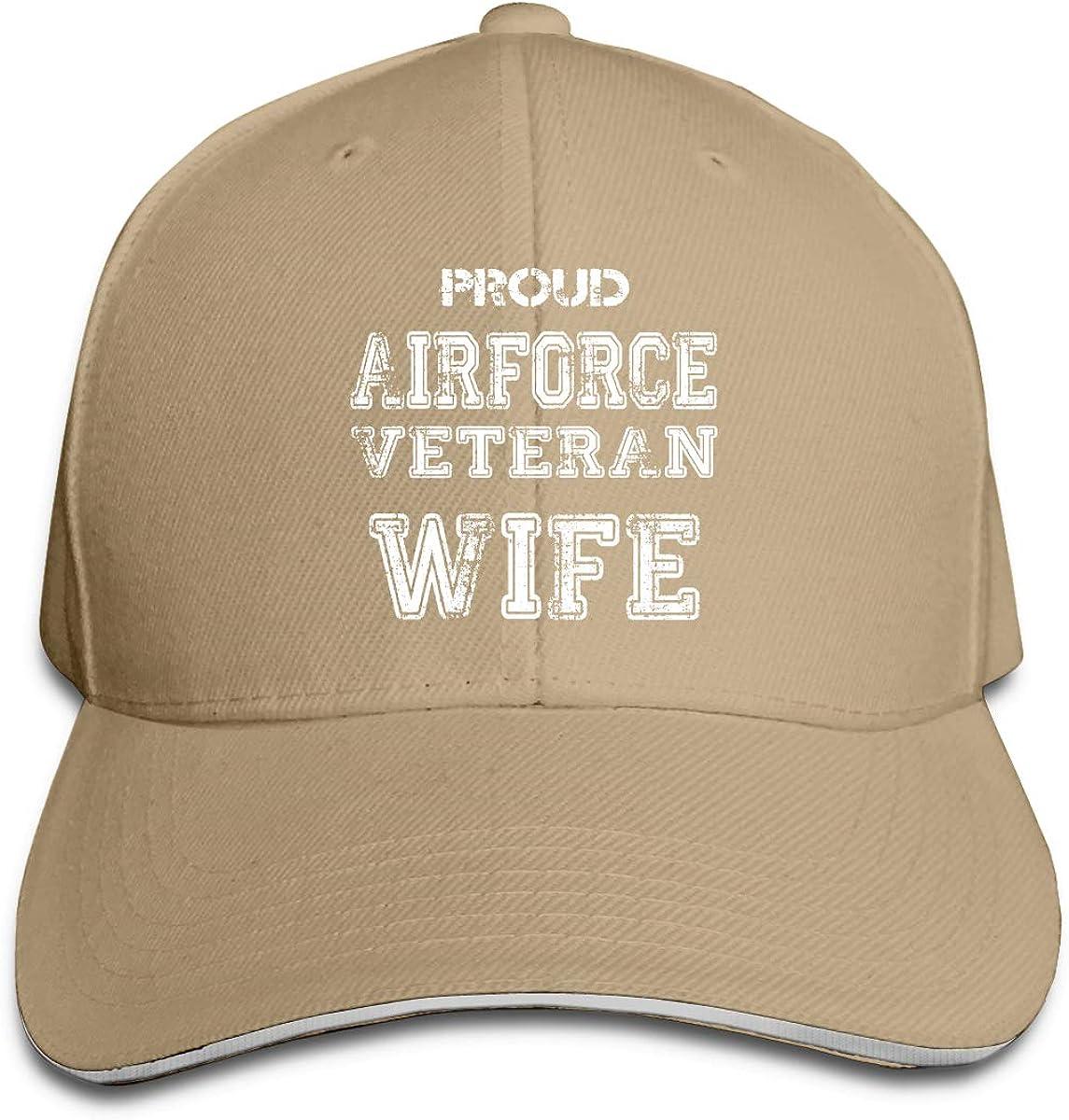 GENZHESI Air Force Emblem USAF Veteran Adjustable Baseball Hat Dad Hats Trucker Hat Sandwich Cap
