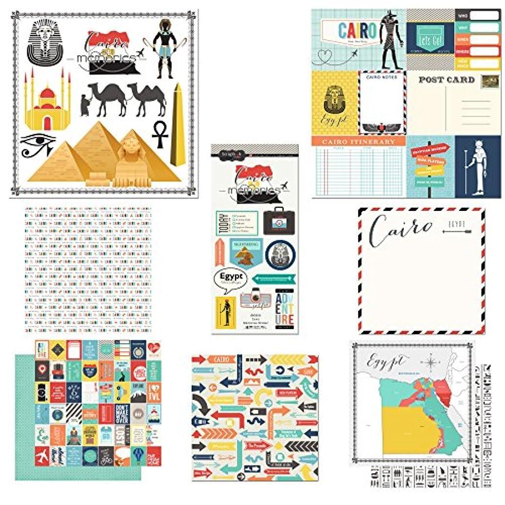 Scrapbook Customs Themed Paper and Stickers Scrapbook Kit, Cairo City Memories