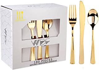 Best gold disposable silverware Reviews