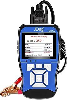 Romacci -BT280 12V 100-2000 CCA Testador de bateria de carga automotiva Ferramenta Analisador de bateria digital universal...