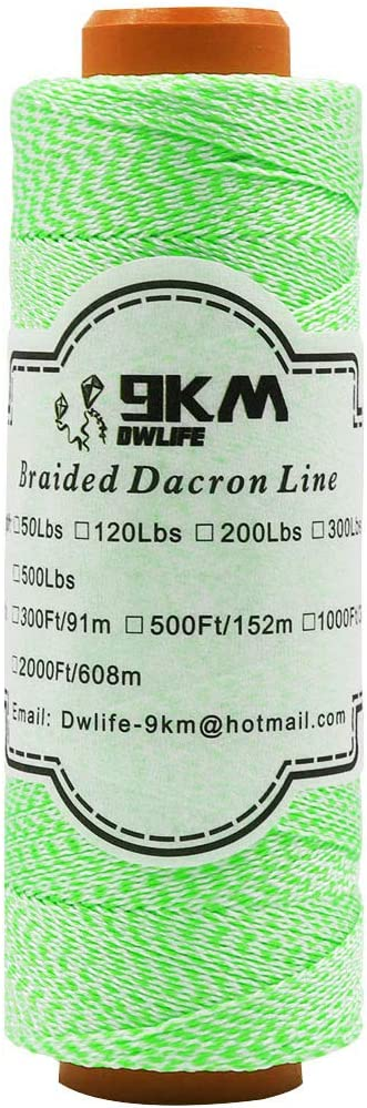 9KM Max 59% Max 80% OFF OFF DWLIFE Braided Dacron String Kite 304m 1000Ft Line Low 50lbs