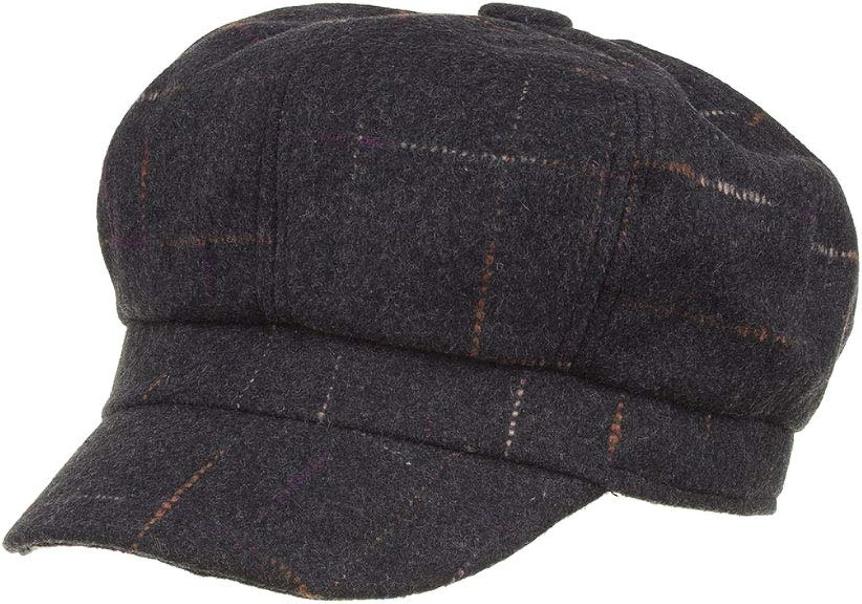 MZHPLD Hochwertige Mode Neue Frauen Wolle Bunte Grid Beret Weibliche Mütze Caps Winter Warme Mütze Kappe