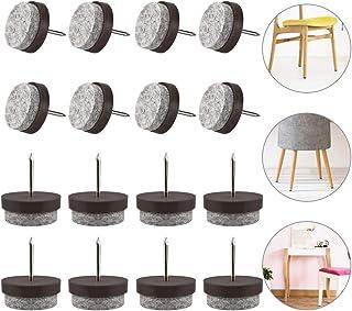color marr/ón Almohadilla protectora para patas de sillas Sourcingmap