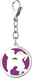 Aooaz Stainless Steel Keychain Gifts Round Couple Pattern Keychain for Men