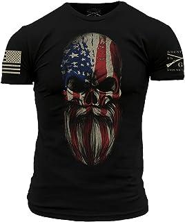 Grunt Style American Beard Skull Men's T-Shirt