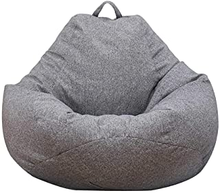 Bean Bag Chair Sofa Cover(No Filler), Lazy Lounger High Back Large Bean Bag Storage Chair Cover Sack for Adults and Kids W...