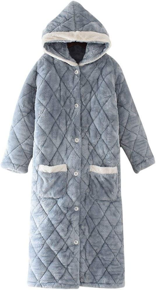 JSJYP Coral Fleece Bathrobes Long Ladies Sales Omaha Mall of SALE items from new works Pajamas Flannel Winter