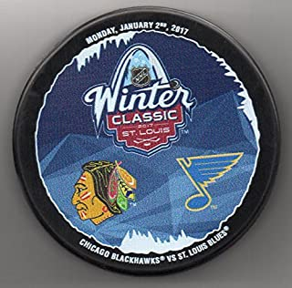 2017 Winter Classic St Louis Blues Chicago Blackhawks Busch Stadium NHL Hockey Puck + FREE Cube