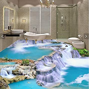 Details about  /3D Bathroom Waterfall River R354 Wallpaper Wall Mural Self-adhesive Commerce Amy