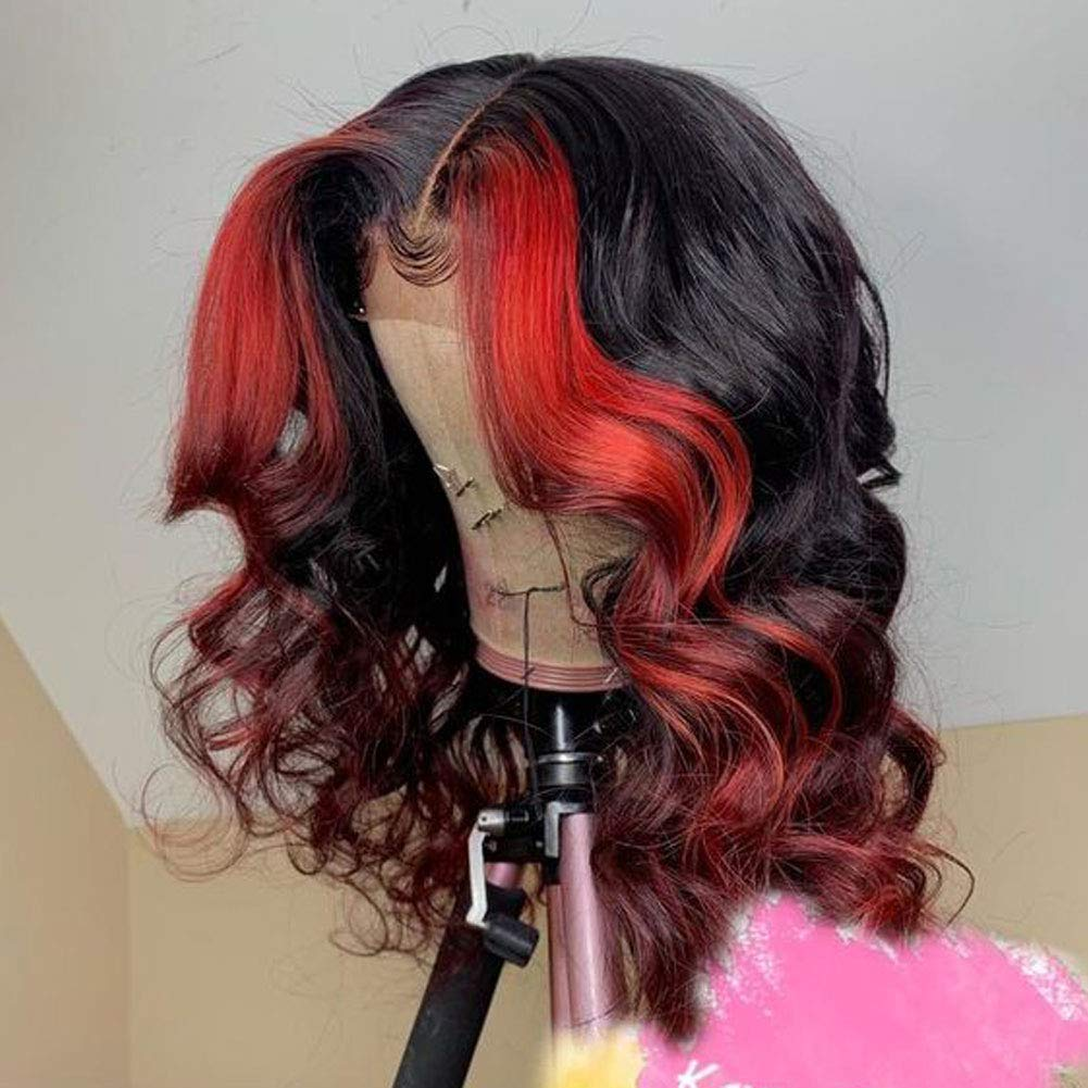 Unextar Red Body New color Wave Lace Front Hair 130% 13X4 F Wig Portland Mall Human