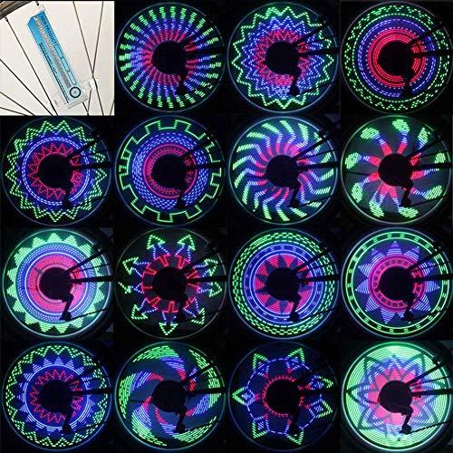 SOULBEST Fahrrad Radlichter - Fahrrad Speichenlicht Felgenbeleuchtung Fahrradfelgenlichter Wasserdicht 32 LED für Nachtfahrten auf MTB-Rädern