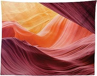 vipsung Scenery Decor - Mantel bajo de Antelope con diseño de cañón de Profundidad Entre Pares de Cliffs tallados con impresión de Actividad erótica, Rectangular, para Comedor, Cocina, Color Morado