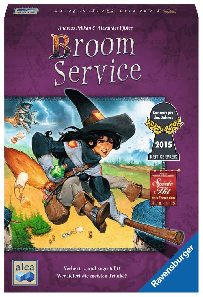 Importado Broom Service 26917 de 2 a 5 Jugadores Ravensburger Juego de Miniatura