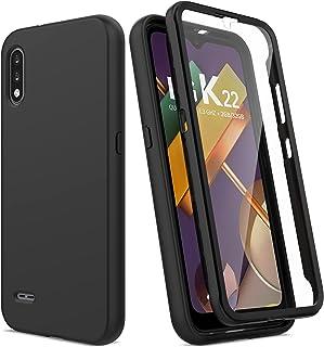 Funda para LG K22, funda LG K32, funda para LG K22 Plus con protector de pantalla integrado, funda de teléfono a prueba de...