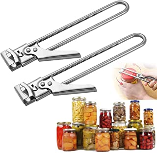 2PCS Master Opener Adjustable Jar Bottle Opener, Multifunctional Stainless Steel Manual Jar Bottle Opener, Good Grip To Ea...