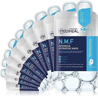 MEDIHEAL Official [Korea's No 1 Sheet Mask] - N.M.F Intensive Hydrating Mask (10 Masks)   Highly Moisturizing Korean Skinc...