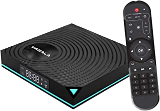Android 9.0 TV Box 4GB RAM 64GB ROM, YAGALA Y1 Smart Android Box RK3318 Quad Core 64bit Dual WiFi 2.4GHz/5.0GHz HDMI 4K 60fps H.265