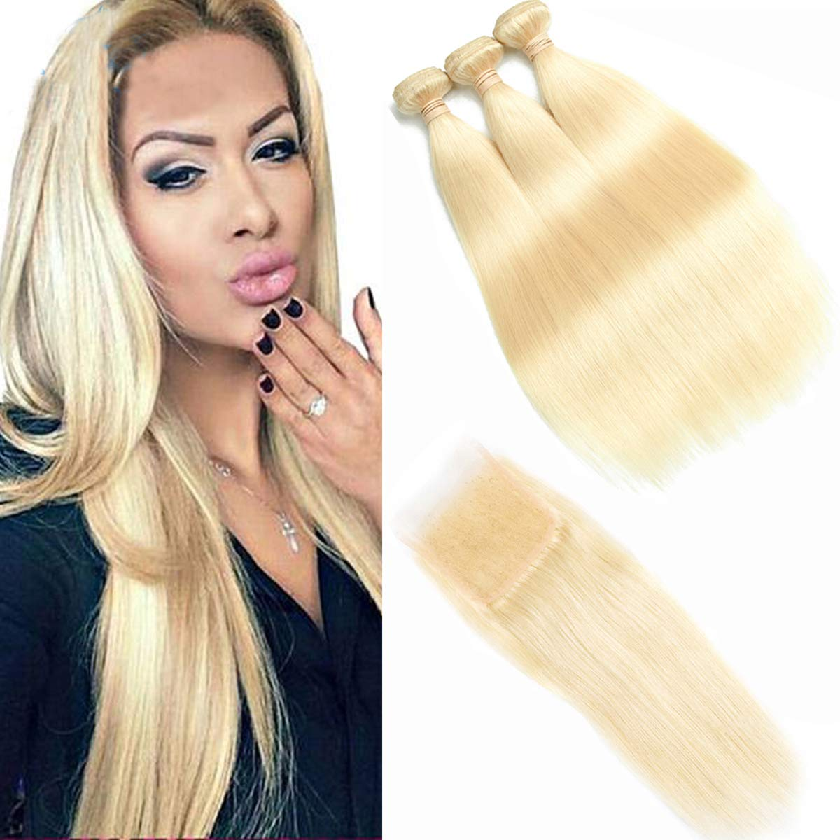 Beauhair 613 Blonde Virgin Hair Bundles with Rapid rise 4x4 Lowest price challenge Lace 3