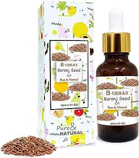 B-URBAN Karanj Seed Oil 100% Natural Pure Undiluted Uncut Carrier Oil 30ml