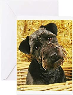 CafePress Patterdale Terrier Greeting Cards Greeting Card, Note Card, Birthday Card, Blank Inside Glossy