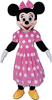 Minnie Mouse Pink Adult Mascot Costume Fancy Dress Cosplay Outfit