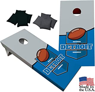 Korrugate It! Cornhole Game - 33 American Football Teams - Corn Hole Outdoor Game - Portable Corrugated Cardboard - Bean Bag Toss Game, Tailgating Toss Game, Back Yard Games - Gift for Sports Fan