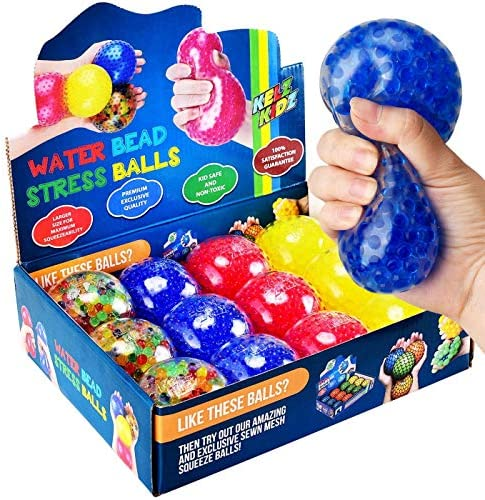 KELZ KIDZ Durable Large Squishy Water Bead Stress Balls 12 Pack Great Sensory Toy for Anxiety product image