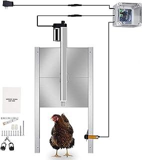 InLoveArts Kit automático de apertura de puerta para gallinero con temporizador programable, motor, actuador, control remoto impermeable, puerta automática para pollo