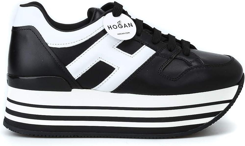 Hogan sneakers donna  pelle nero HXW2830T548HQK0002