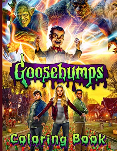 Goosebumps Coloring Book: Premium Unofficial Goosebumps Coloring Books For Adults, Tweens
