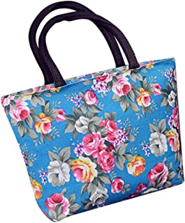Wultia - Bags for Women 2019 Women Girls Printing Canvas Shopping Handbag Shoulder Tote Shopper Bag Luxury Handbags *0.92 Blue