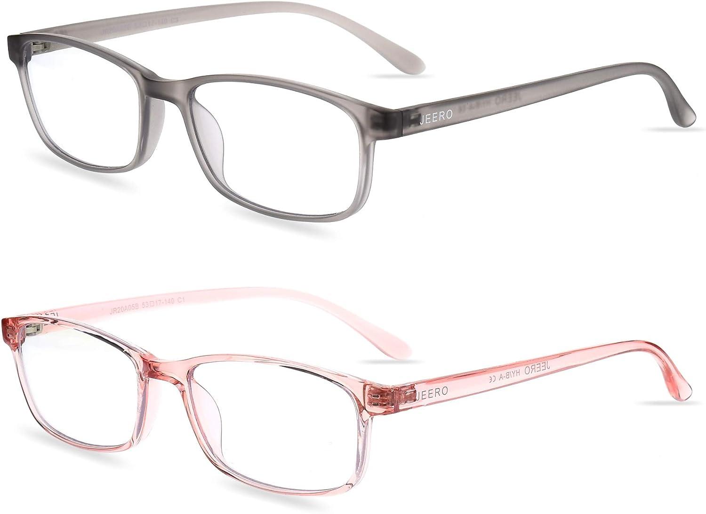 Blue Light Blocking Glasses - 2 Pack Computer Glasses Women/Men Small Face,TR-90 Gaming Eyewear Anti Eyestrain Non Prescription