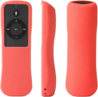 SIKAI Silicone Case for Echo, Echo Dot, Echo Plus, Echo Show and Echo Spot Remote Shockproof Protective Cover for Amazon Echo Alexa Voice Remote Anti-Lost with Remote Loop (Red)